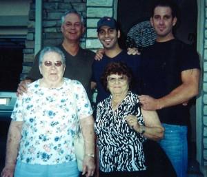Gary, Sean and Ryan with both Grandmas
